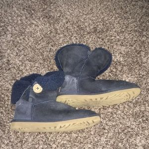UGG Navy Button Winter Boots